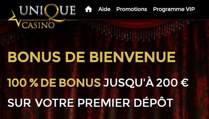 Avis de Unique Casino